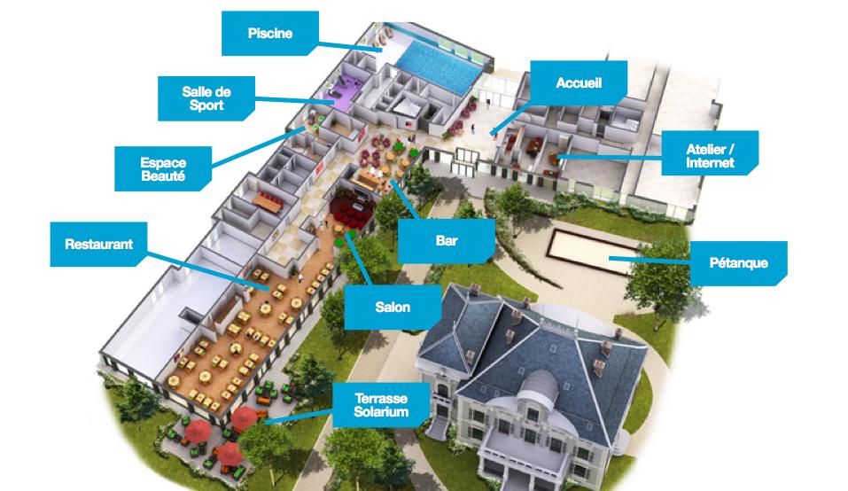 plan maison de retraite